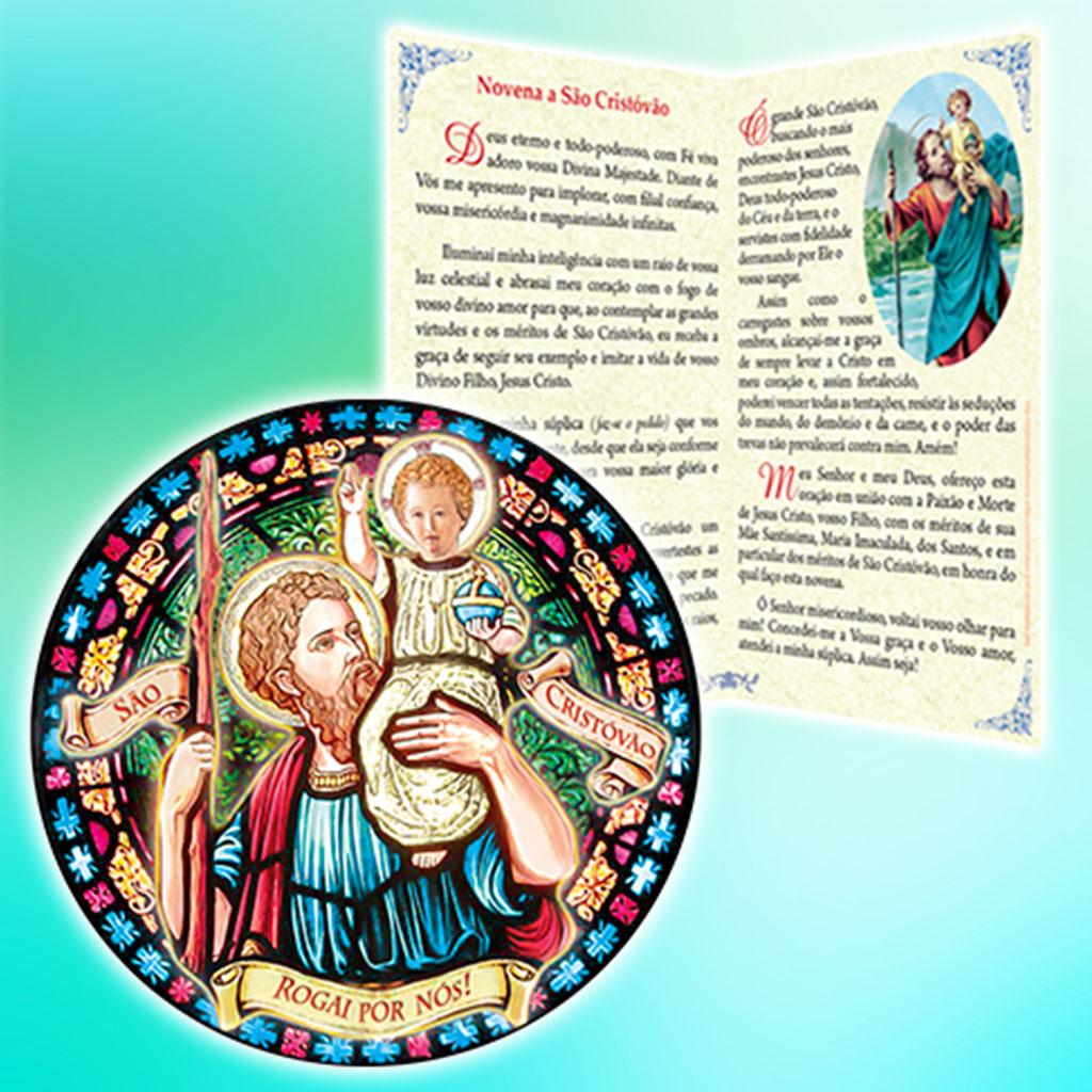 Novena e o Adesivo de São Cristóvão