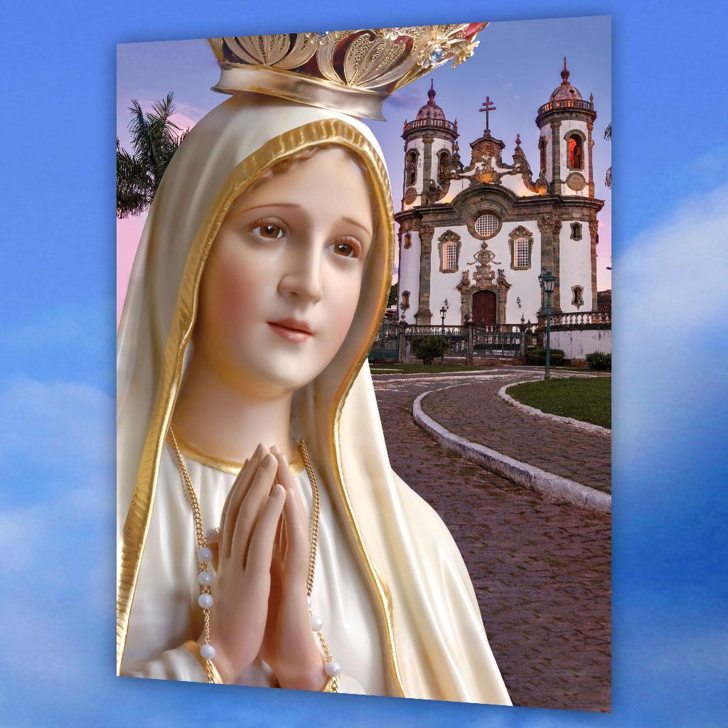 Postal 3D de Nossa Senhora de Fatima